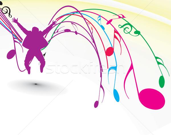 Music notes Stock photo © redshinestudio