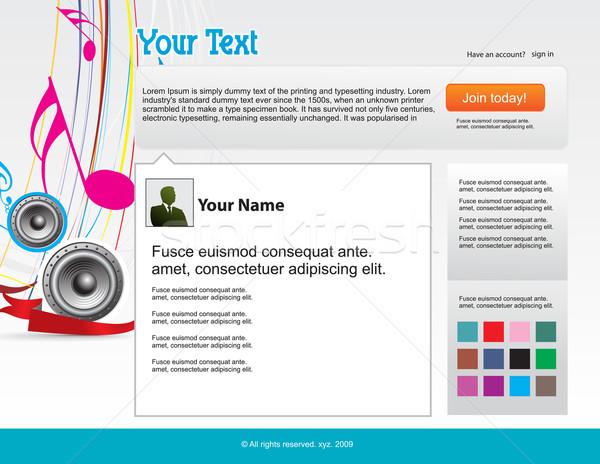 twitter themes Stock photo © redshinestudio