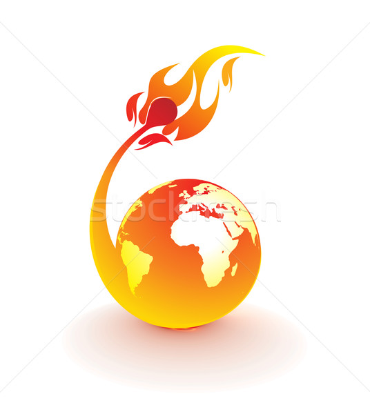 fire globe  Stock photo © redshinestudio