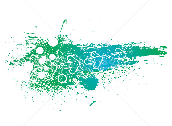 Abstract grunge arrow backgroung Stock photo © redshinestudio