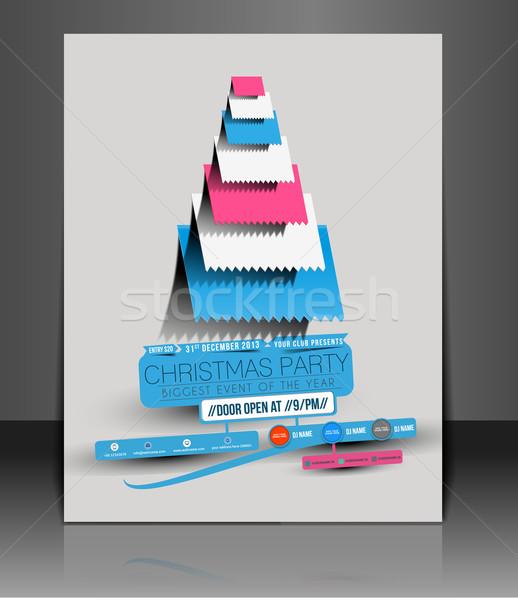 Christmas Party Flyer Stock photo © redshinestudio