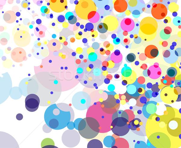 抽象的な カラフル サークル デザイン 背景 スペース ストックフォト © redshinestudio