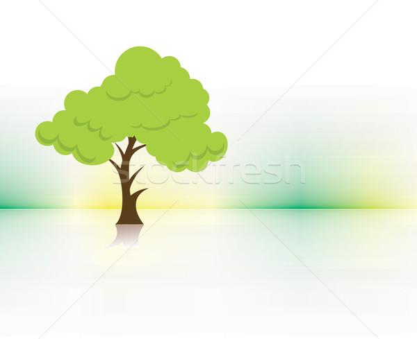 エコ ツリー 抽象的な ベクトル 緑の木 葉 ストックフォト © redshinestudio