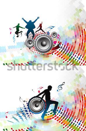 都市 市 パーティ 抽象的な 音楽 ツリー ストックフォト © redshinestudio