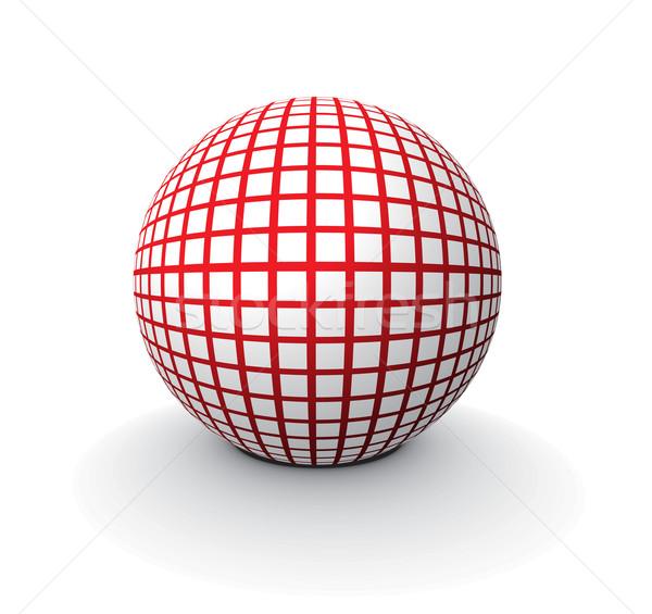 3D 球 ベクトル 抽象的な ボール ウェブ ストックフォト © redshinestudio
