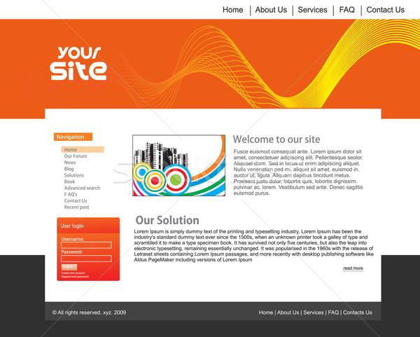 Web site design template Stock photo © redshinestudio