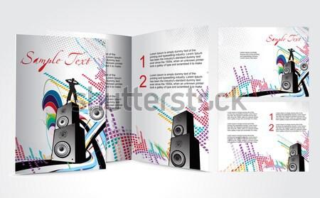 Music Party Bi-Fold Brochure Stock photo © redshinestudio