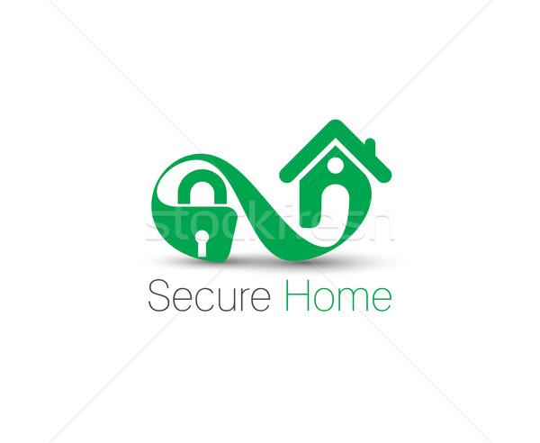 ホーム セキュリティ シンボル 孤立した ベクトル デザイン ストックフォト © redshinestudio