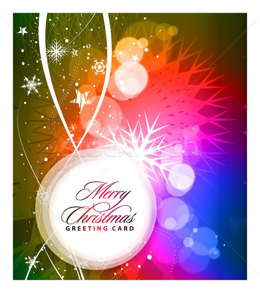 Noël coloré design nouvelle année musique arbre Photo stock © redshinestudio