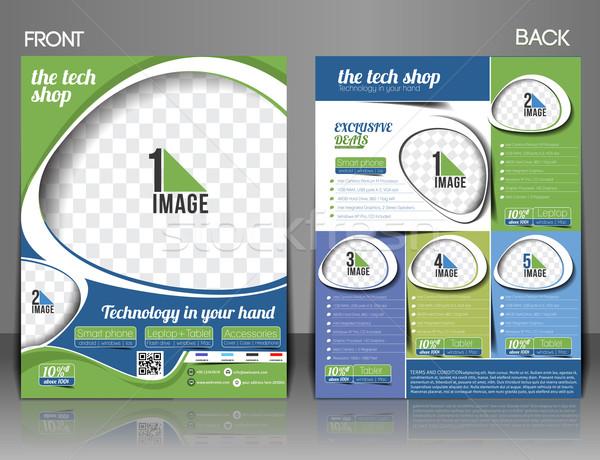 Tech bolt szórólap magazin borító poszter Stock fotó © redshinestudio