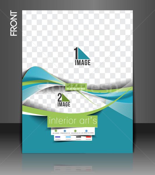 Architecture & Interior Decorator Flyer Stock photo © redshinestudio