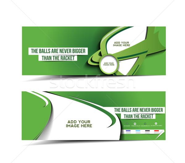 Tenis torneo web banner disposición Foto stock © redshinestudio