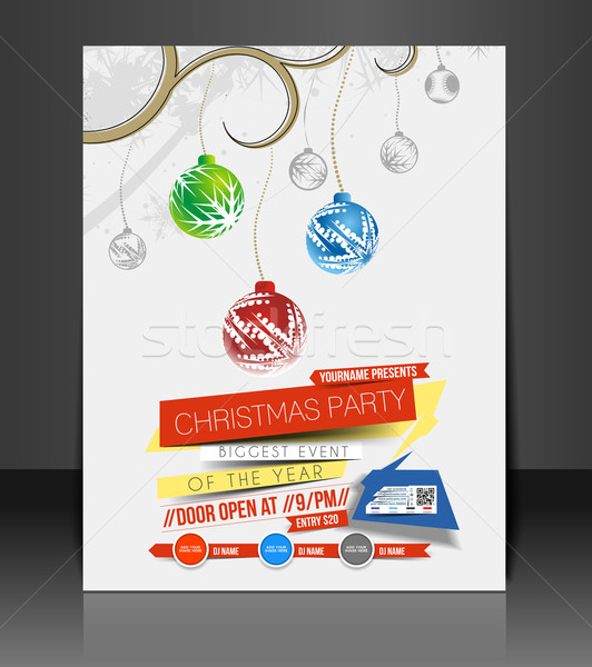 Stock photo: Christmas Party Flyer
