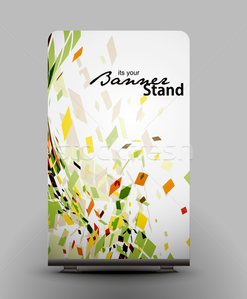 Stand banner sjabloon display ontwerp abstract Stockfoto © redshinestudio