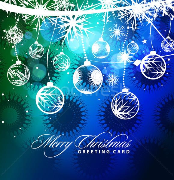 Noel renkli dizayn yılbaşı müzik ağaç Stok fotoğraf © redshinestudio