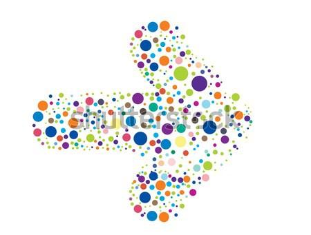 Résumé coloré particules flèche affaires design Photo stock © redshinestudio