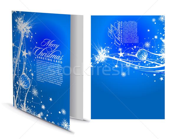 Noël carte de vœux présentation design heureux mode Photo stock © redshinestudio