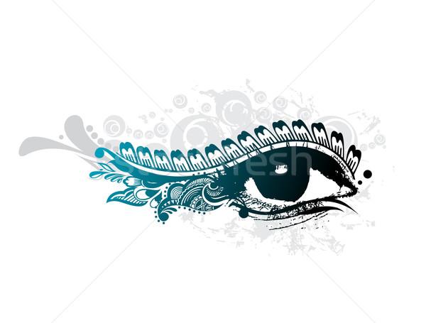 Umani occhi abstract grunge design bella Foto d'archivio © redshinestudio