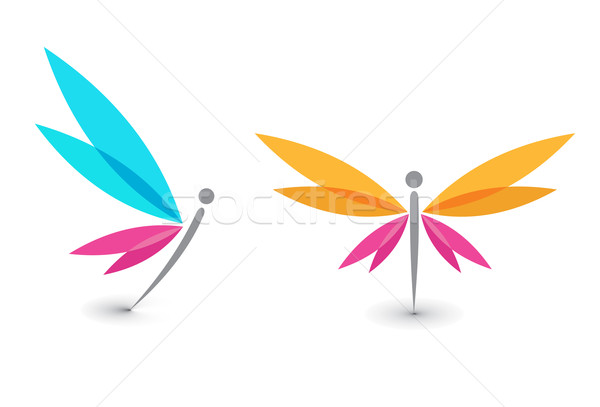 butterfly icon Stock photo © redshinestudio