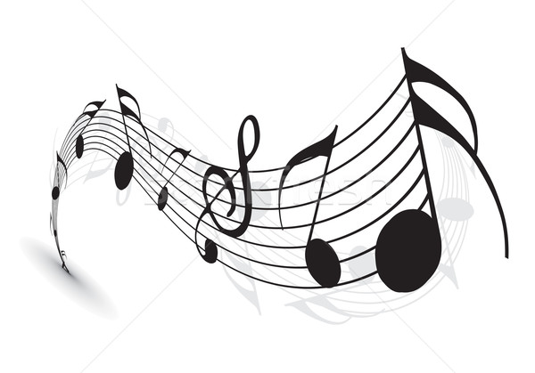 Music notes Stock photo © redshinestudio