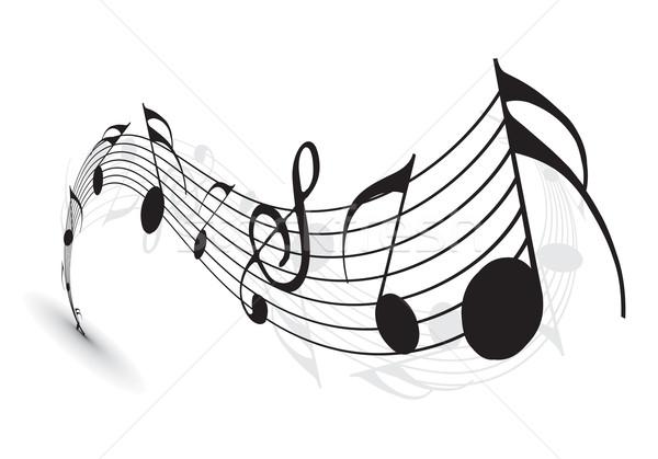 Hangjegyek terv koncert tapéta hang hullámok Stock fotó © redshinestudio