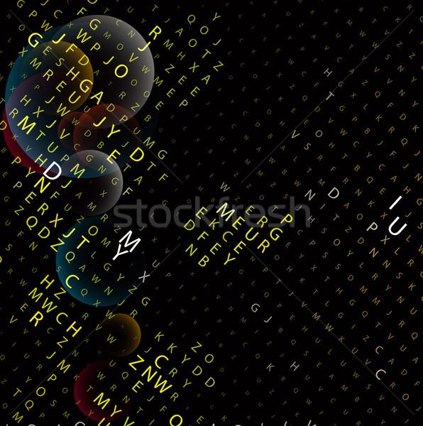 Digitale programma code business wereldbol ontwerp Stockfoto © redshinestudio