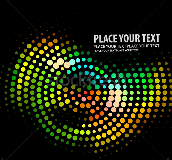 抽象的な ハーフトーン eps8 光 技術 1泊 ストックフォト © redshinestudio