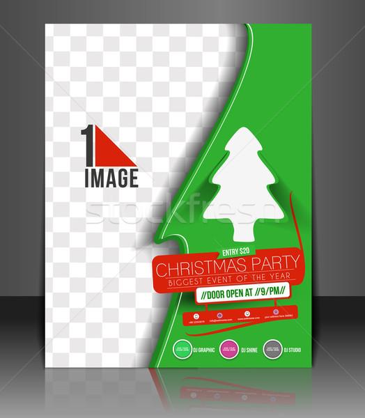 Christmas Party Flyer Foto stock © redshinestudio