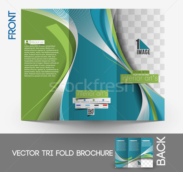 Arquitectura decorador de interiores folleto hasta diseno negocios Foto stock © redshinestudio