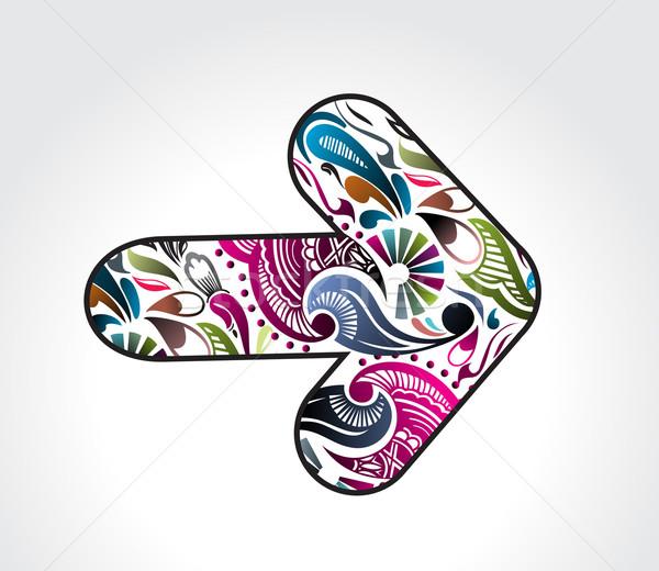 цветочный стрелка дизайна аннотация используемый собственный Сток-фото © redshinestudio