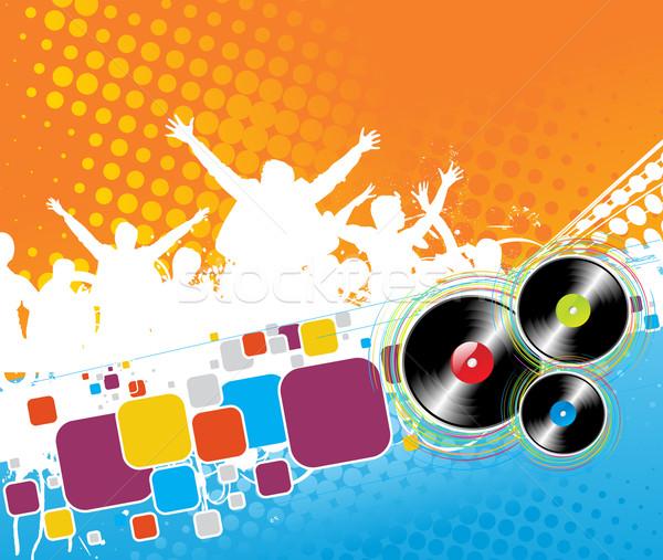 Fête groupe danse vecteur main foule Photo stock © redshinestudio