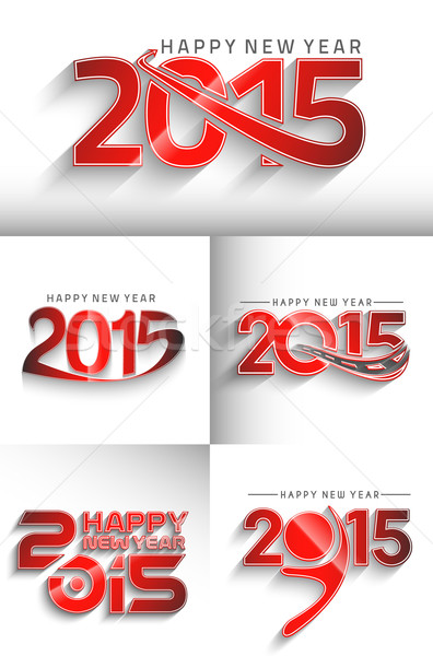 Happy new year 2015  Stock photo © redshinestudio
