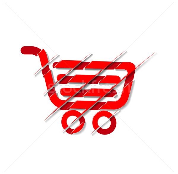 shopping cart icon Stock photo © redshinestudio
