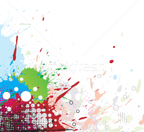 Colourful bright ink splat design  Stock photo © redshinestudio