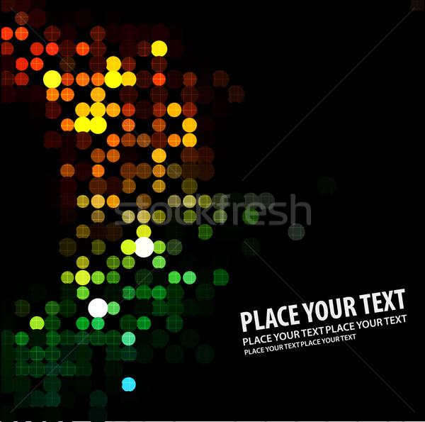 抽象的な ライト ディスコ 光 パターン 暗い ストックフォト © redshinestudio