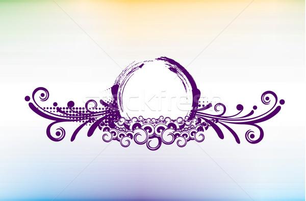 круга Баннеры место фон городского звездой Сток-фото © redshinestudio