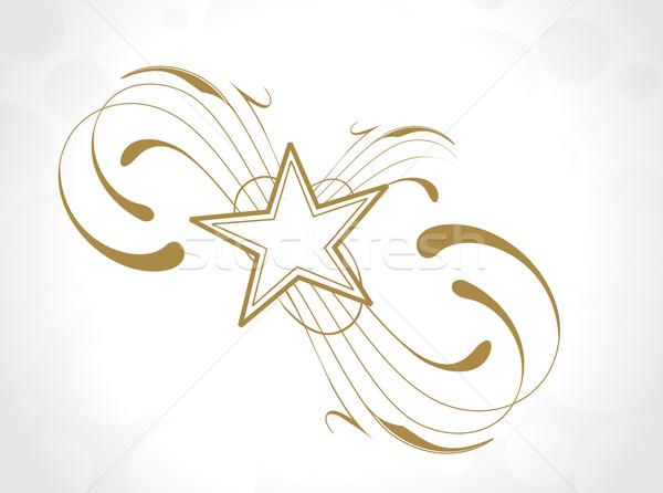 floral star design Stock photo © redshinestudio