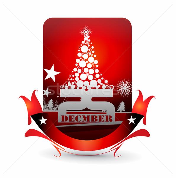 Christmas party invitation card Stock photo © redshinestudio