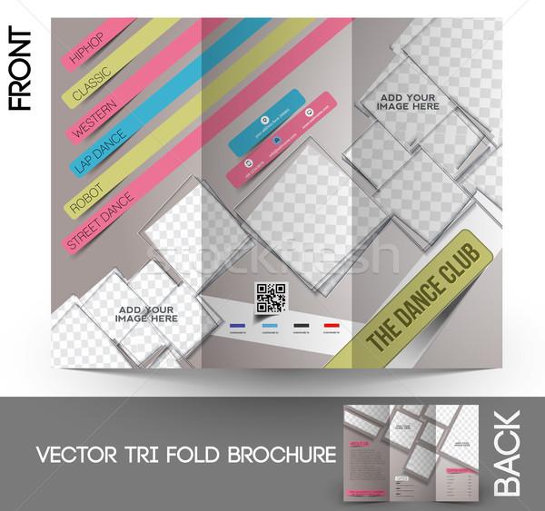 Dance Club Tri-Fold Brochure Stock photo © redshinestudio