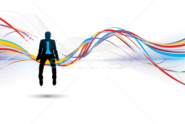 silhouette of businessman Stock photo © redshinestudio