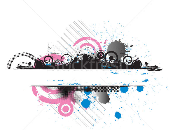 Grunge Banner Dribbling Raum Hintergrund Retro Stock foto © redshinestudio