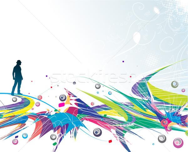 colour background Stock photo © redshinestudio