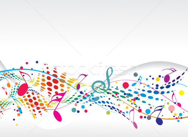Notas musicais abstrato projeto música concerto papel de parede Foto stock © redshinestudio