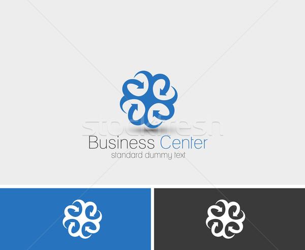 Streszczenie web ikony wektora logos projektu sztuki Zdjęcia stock © redshinestudio