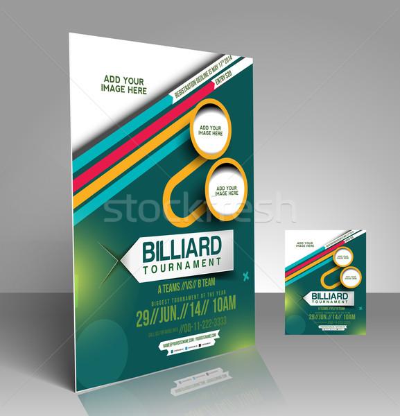 Billiard Competition Flyer Stock photo © redshinestudio