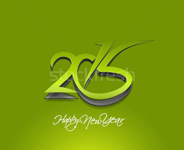Happy new year 2015 texte design affaires résumé Photo stock © redshinestudio
