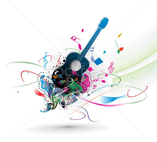 музыку аннотация радуга цвета больше здесь Сток-фото © redshinestudio