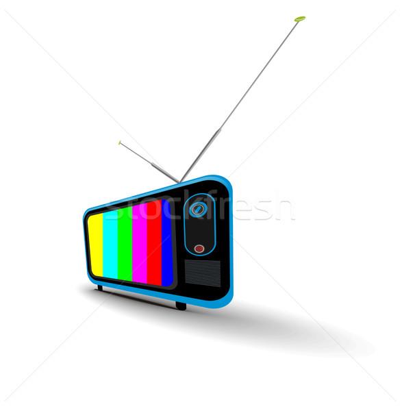 ретро телевидение икона музыку технологий фон Сток-фото © redshinestudio