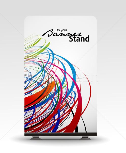 スタンド バナー テンプレート 表示 デザイン 抽象的な ストックフォト © redshinestudio
