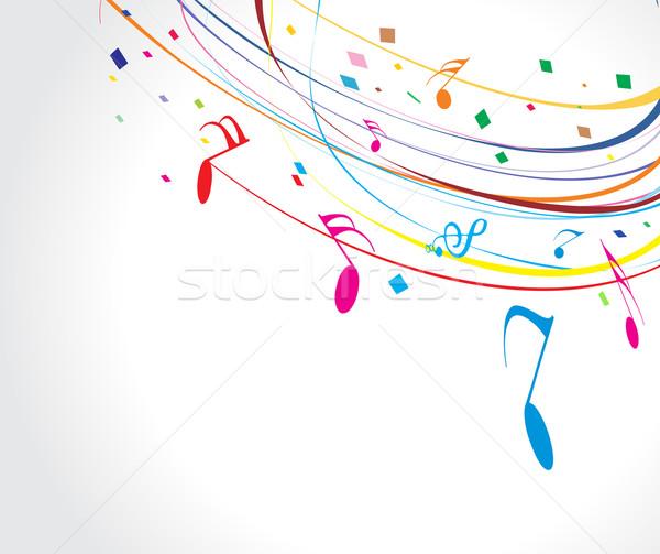 музыкальный волна линия музыки отмечает аннотация дизайна Сток-фото © redshinestudio
